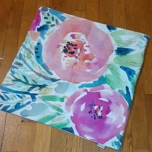 Watercolor Floral Print  Pillow Cover/Case New!